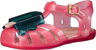 Mini Melissa Aranha VIII BB 露跟凉鞋(幼儿) 粉红色/绿色 5 M US Toddler