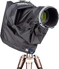 Think 背心照片应急防雨罩 DSLR 和无镜像相机 带有高达 70-200mm 透镜 - 中号