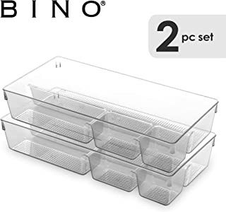BINO 多功能塑料抽屉管理用品 4-Section Deep
