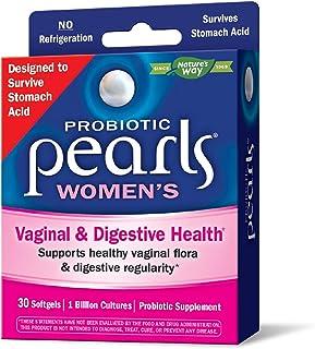 Enzymatic Therapy Probiotic Pearls 女性益生菌补充剂,每日服用一次,10亿活体培养物,胃酸存活,无需冷藏,30粒软胶囊