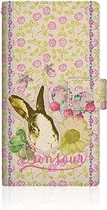 CaseMarket 【翻盖式】 SoftBank Xperia Z3( So ) 超薄壳针脚模型 [ 兔子植物日记–花朵图案经典可爱少女 グラフィックス ] so - vcm2s2471Sony