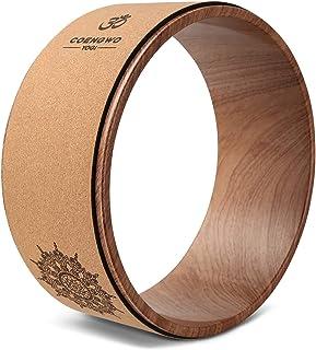 COENGWO 瑜伽轮 – 瑜伽轮滚轮 适用于背部* 13 英寸 x 5 英寸 瑜伽推进轮