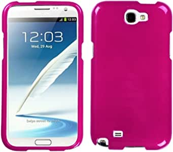 Asmyna SAMGNIIHPCSO012NP Premium Durable Protective Case for Samsung Galaxy Note 2-1 Pack - Retail Packaging - Hot Pink