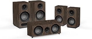 Jamo S 803 HCS 5.0 声道胡桃木扬声器套装 - 扬声器套装(5.0 声道,家庭影院,AC)