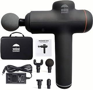 WBM 智能便携式按摩枪,30 速超静音可充电,无绳手持运动器
