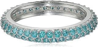 Myia Passiello Colors Swarovski Zirconia Turquoise Slim Stackable Ring, Size 6