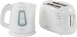 Igenix IGPK05 早餐套装,壶和 2 片烤面包机 - 白色 白色 IGPK05