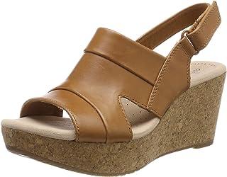 Clarks 女式 Annadel Ivory 后带挑空凉鞋