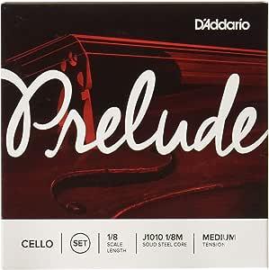 D'Addario 达达里奥 Prelude 中等张力 1/8 大提琴套弦 J1010 1/8M
