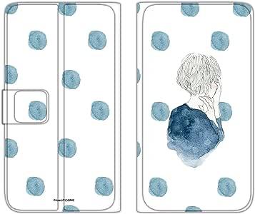 卡丽 手机壳 翻盖式 薄款印花翻盖 女孩和圆点WN-LC874638_L 2_ Xperia XZ2 H8296 女孩子和波点A