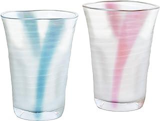 东洋佐佐木玻璃 啤*杯・马克杯 蓝色・粉色 350ml