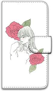 卡丽 壳 印刷手册 女孩子和玫瑰 智能手机壳 手册式 对应全部机型 女の子とバラB 7_ Huawei nova lite PRA-LX2
