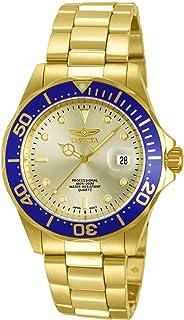 Invicta 男士 14124 Pro Diver 金色表盘 18k 镀金不锈钢手表