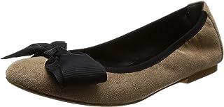 [NUVELOVOREE] 芭蕾舞鞋 蝴蝶结扁平鞋 16-3488 橡木 24.0 cm