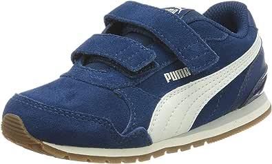 Puma 彪马 St Runner V2 SD V Inf 中性儿童运动鞋 Blau (Gibraltar Sea-whisper White-gray Violet 05) 25 EU