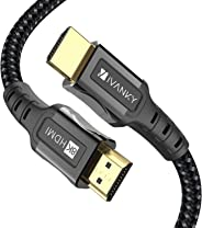 8K HDMI 电缆 6.6 英尺 iVANKY HDMI 2.1 电缆 8K@60Hz 超高清 48Gbps 8K HDR,3D,4320P,2160P,1080P,以太网 - 锌合金外壳 - 音频回馈 (ARC),UHD TV,显示器,PS4,