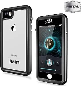 Temdan iPhone 6/6s 防水手机壳内置屏幕保护膜全身保护壳 浮动滑雪露营手机壳适用于 iPhone 6/6s 带支架和防水耳机适配器(4.7 英寸)