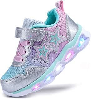 NEWMALL 幼儿女童鞋儿童闪光运动鞋