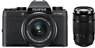 Fujifilm X-T100 Systemkamera (24,2 Megapixel, 7,6 cm (3 Zoll) Touch-Display, APS-C-Sensor) Double Zoom Kit inkl. XC15-45mm F3.5-5.6 OIS PZ + XC50-230mm F4.5-6.7 OIS II schwarz