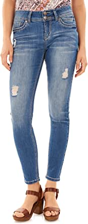 WallFlower Women's Juniors Low Rise Luscious Curvy Skinny Stretch Denim Jeans  Margot 3
