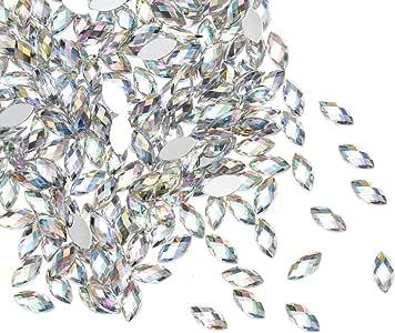 水晶水钻透明平背 DIY 美甲艺术珠宝制作婚礼装饰 Horse eye 12mm Crystal Rhinestones