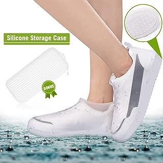 ComfiTime 防水鞋套 – 雨鞋套,TPE 橡胶材料比硅胶更强,附赠收纳盒,防滑,耐用,可重复使用男式、女式和儿童鞋保护罩