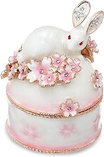 PIEARTH 珠宝盒 兔与樱B(白色) EX456-1
