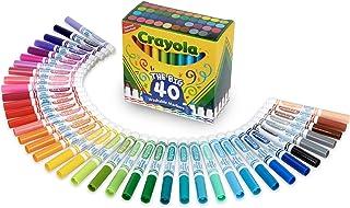 Crayola 绘儿乐 超干净的可洗大号标记笔,40种经典的颜色,送给孩子们的礼物