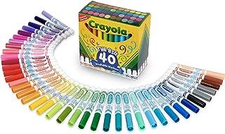 Crayola 繪兒樂 Ultra Clean超潔凈可清洗寬線馬克筆,40 種經典顏色,兒童禮品