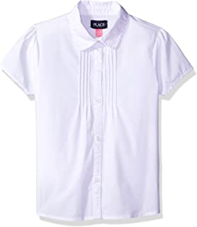 The Children's Place Girls' Short Sleeve Uniform Blouse