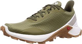 Salomon 萨洛蒙 越野跑鞋 ALPHACROSS W 阿尔法克劳斯 女士 Burnt Olive/White/GUM1A 22.0 cm