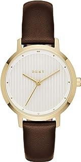 DKNY 女士指针式石英手表,带皮革表带NY2639