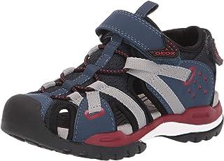 Geox 健乐士 男童 J Borealis Boy B 包头凉鞋 Blau (Navy/Red C0735) 30 EU