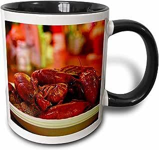 3drose florene 食品和饮料–nawlins crawfish 特写–马克杯 黑色/白色 11-oz Two-Tone Black Mug