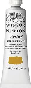Winsor & Newton Artists Oil Color Paint, 37ml Tube, Raw Umber Light