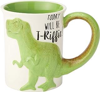 Enesco 6000548 Our Name Is Mud Stoneware 雕刻咖啡杯,453.59 g,多色 绿色 16盎司 6000549