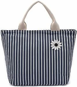 Yousu 午餐袋可重复使用午餐袋大容量保温午餐盒带拉链 蓝色