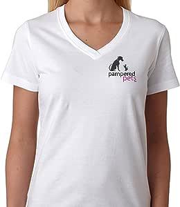 "Pampered Pets V 领 T 恤(正面标志和""Do You Have a Pampered Pet ?"" 背面) X大码 白色 700600866135"