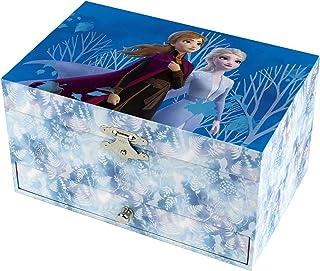 Trousselier 迪士尼 冰雪女王 2 个人偶 Elsa 带音乐的首饰盒,适*为女孩的礼物,电影中的音乐,蓝色