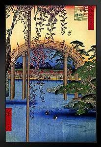 Utagawa Hiroshige Inside Kameido Tenjin Shrine Woodblock 印刷海报 30.48x45.72 cm 艺术印刷品 Multi-color / 8528 Framed in Black Wood 14x20 inch 180225