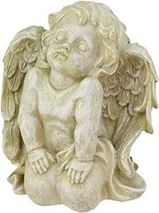 Northlight Heavenly Gardens 做旧式膝盖式切尔本户外庭院雕像,15.24cm,杏仁棕色