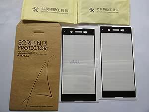 CYTT 索尼 XA1 超钢化玻璃屏幕保护膜(2 只装)适用于索尼 XA1 *型 黑色