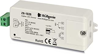 Zigbee LED 控制器适用于 LED 灯条调光器和Zigbee 中继器,8 安培,瞬时开关输入 RGBgenie ZB-1026