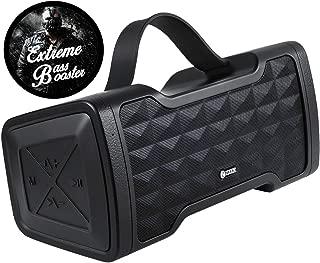 Zoook Jazz Blaster - 便携式防水户外无线蓝牙音箱带低音炮,丰富的低音,30 瓦功率,IPX5,防水免提通话(黑色)