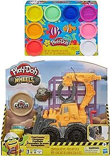 Play Doh Wheels 前置装载机玩具卡车 + Play Doh 8 包彩虹复合物
