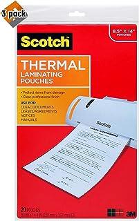 cotch 热层压袋,21.59 x 35.56 厘米,20 个袋 透明