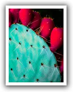 ArtWall Dean Uhlinger 'Azul Cacto' Unwrapped Canvas Art, 22 by 28-Inch, Holds 18 by 24-Inch Image