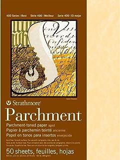 Strathmore 400 系列老化羊皮纸垫,60 磅。 光滑表面,11 X 17 英寸,25 张(406-2)