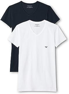 Emporio Armani 安普里奥·阿玛尼 男士111512cc717短袖T恤,2件装