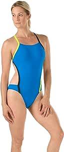 Speedo 女士 Vee 2 Endurance Lite 连体泳衣 超蓝色 Size 14/40
